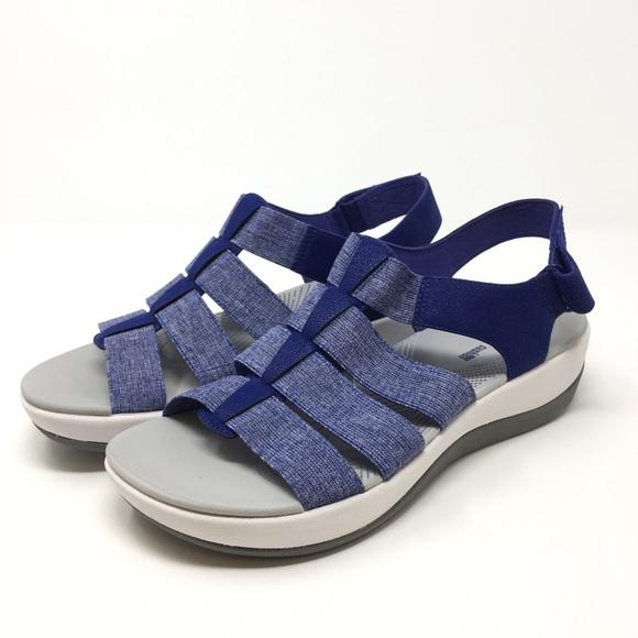 9379fd3a576 Clarks Shoes - Clarks Cloud Steppers Sandals Sz 9.5M Arla Shaylie
